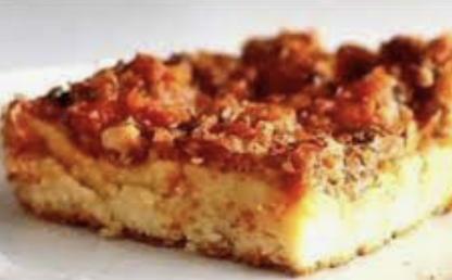 Pizza de sardinha com massa de liquidificador