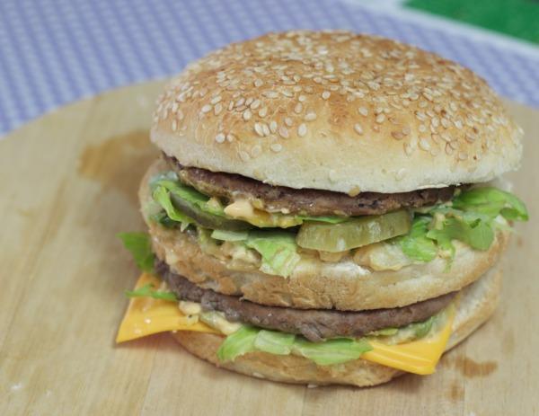 Big Mac com molho especial do Mcdonalds