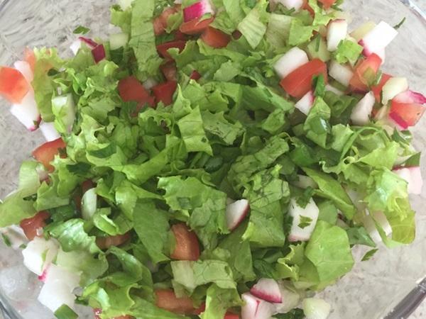 Salada Árabe - Fatoush