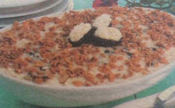 Pavê de ameixa, granola e coco