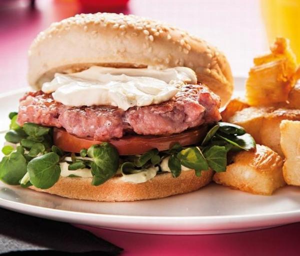 Hambúrguer de Frango com Linguiça