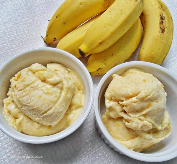 Sorvete de Banana com Iogurte