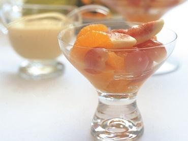 Frutas de páscoa com baba de moça