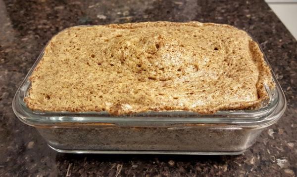 Pão de linhaça com amendoim low