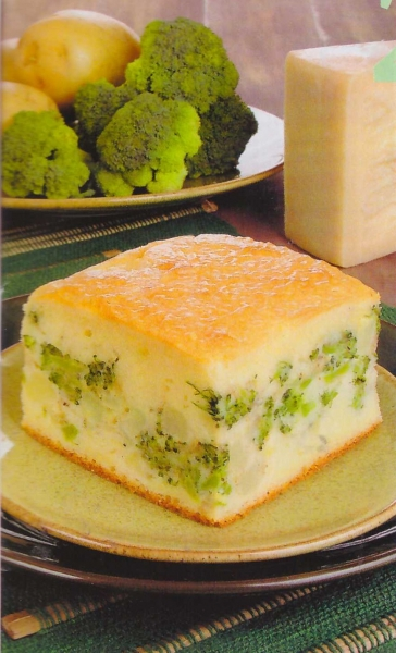 Torta Salgada - Recheio de Batata e Brócolis