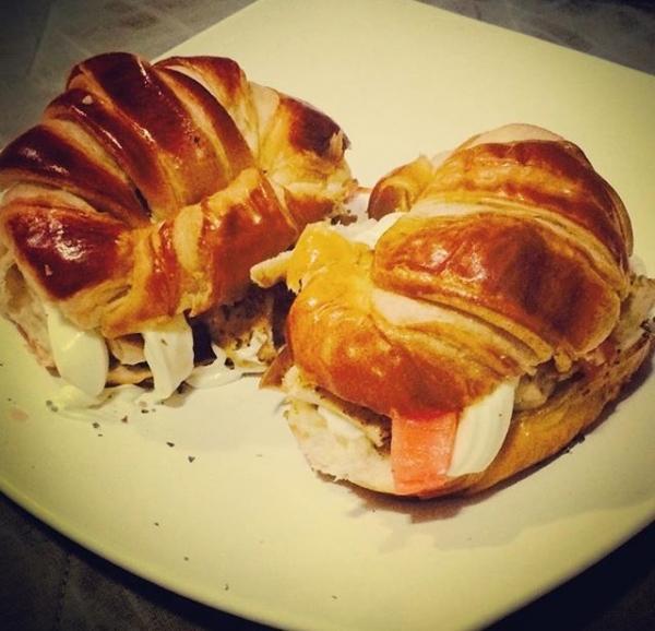 Sanduiche no Croissant