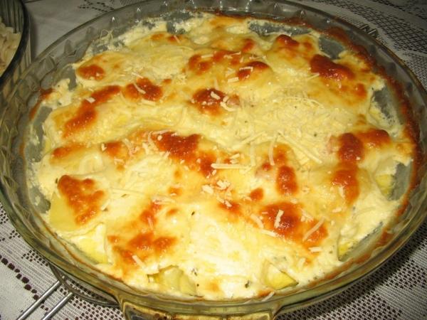 Batata gratinada com queijo