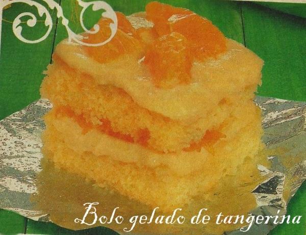 Bolo gelado de tangerina