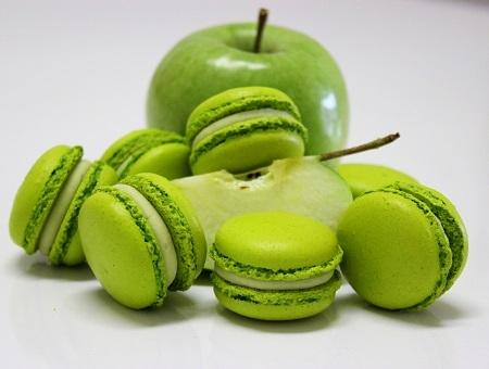 Macaron de maça verde