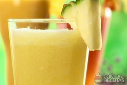 Vitamina de frutas e fibras