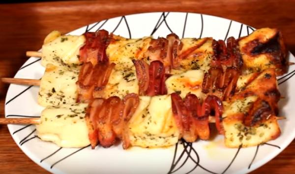 Queijo Coalho Com Bacon