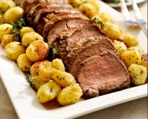 Rosbife com Batatas