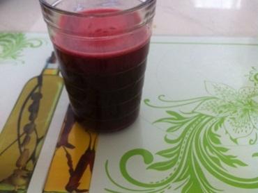 Suco de beterraba com laranja