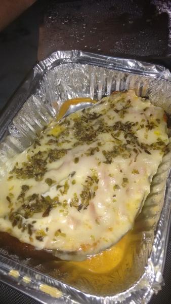 Berinjela de forno com presunto, queijo e catupiry