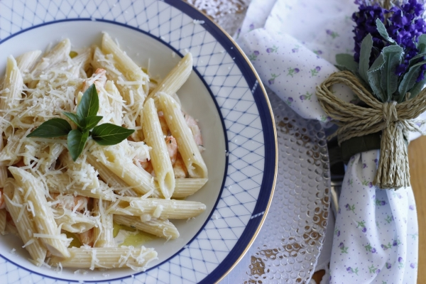 Espaguete com cream cheese