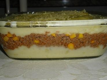 Escondidinho de carne moída com batata