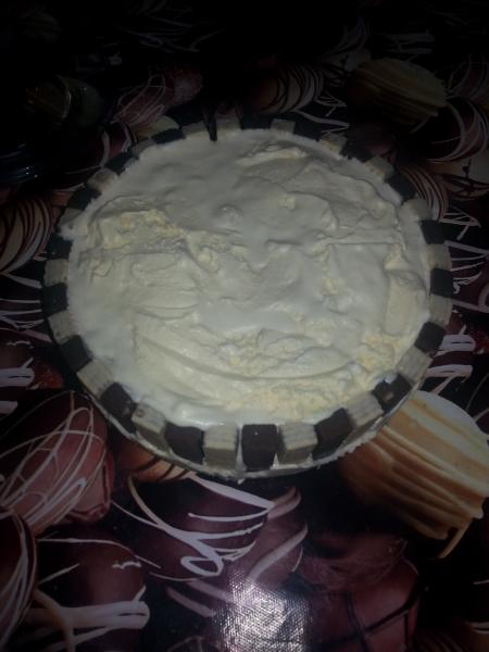 Torta de bis e sorvete