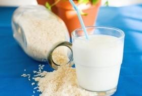 Vitamina funcional com bebida de arroz