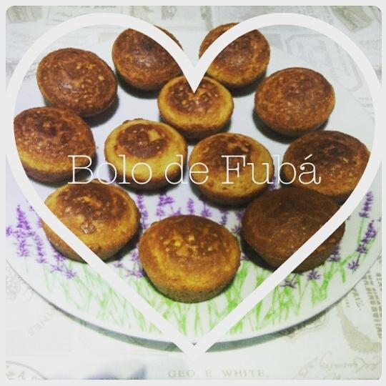 Mini Cupcake de Fubá Saudável