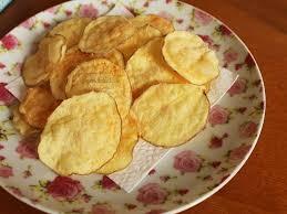Batata doce chips de forno