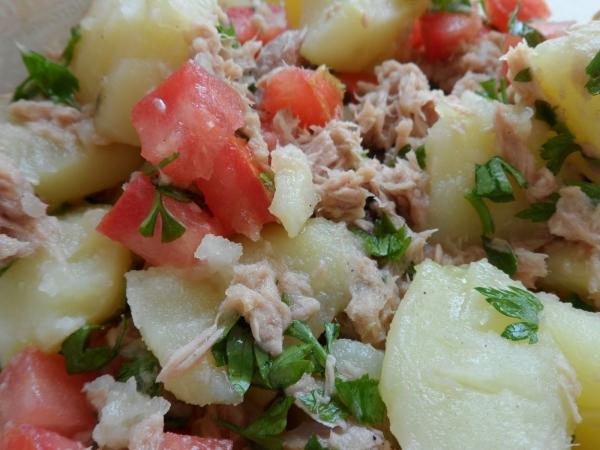 Salada Simples de Atum com Batata