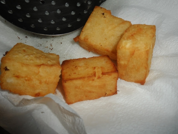 Aipim Cremoso Frito