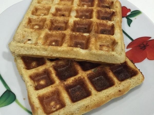 Waffles de whey e aveia (fitness)