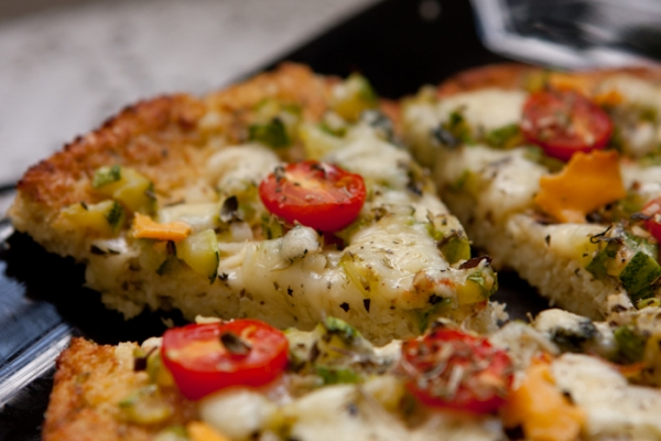 Pizza de couver flor