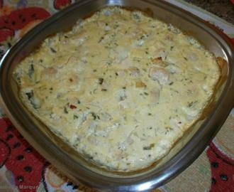 Filé de frango com batatas ao molho de requeijão e catupiry