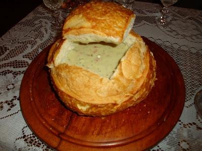 Panhoca com queijo gorgonzola