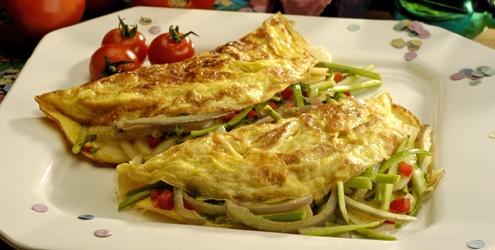 Omelete de massa
