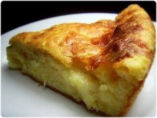 Torta bolo de queijo e champignon