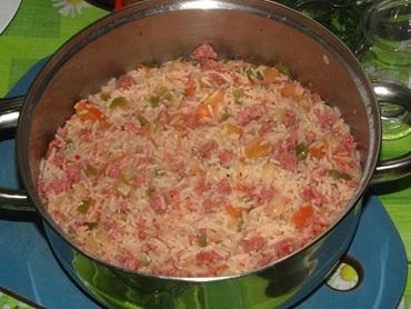 arroz de carreteiro com linguica