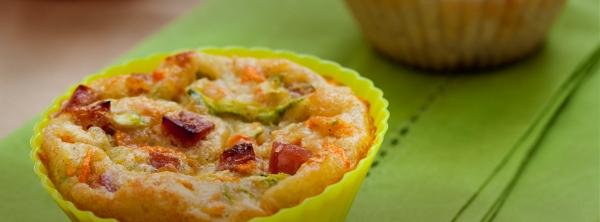 Muffin de legumes com salaminho