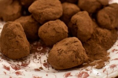 Trufas de chocolate caseiras