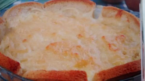 Torta de cebola com requeijao