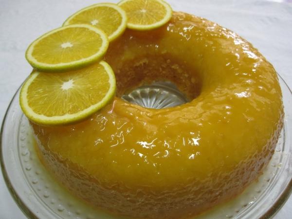 Cobertura de para bolo de laranja