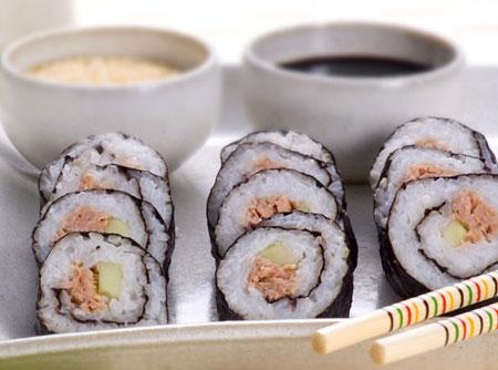 Sushi de Atum em Conserva
