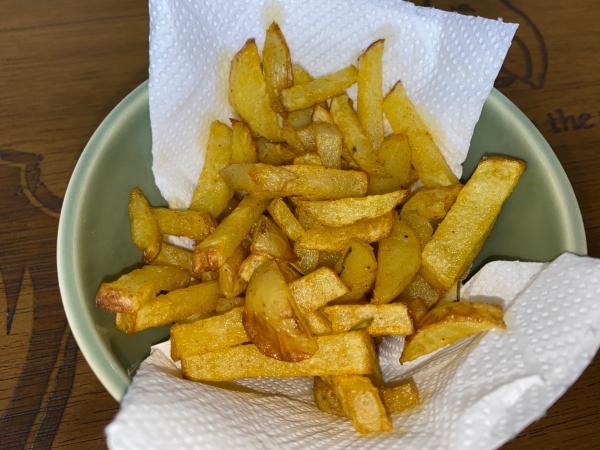 Batata frita na Air fryer