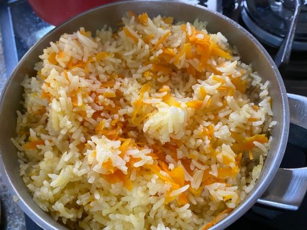 Arroz com cenoura +9m