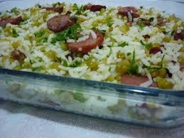 arroz com lentilha e calabresa
