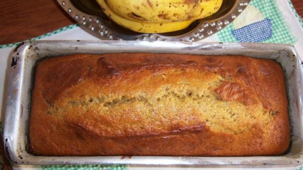 Pão de banana rápido