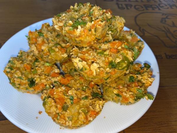 Bolinhos de legumes com aveia