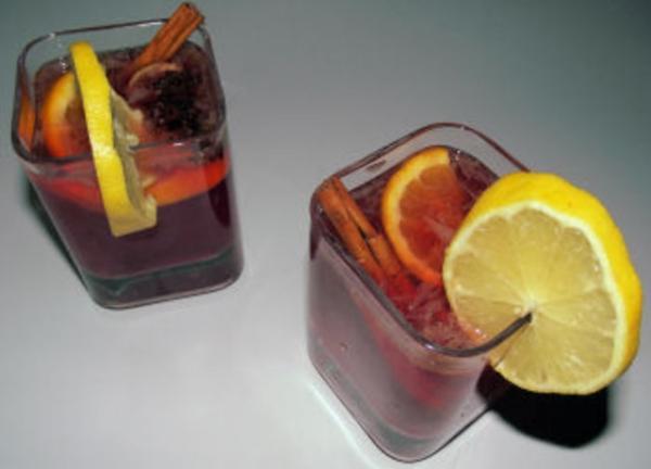 Suco de frutas para o natal