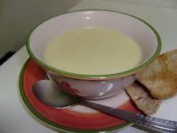 Sopa Creme de Batatas com Cebolas