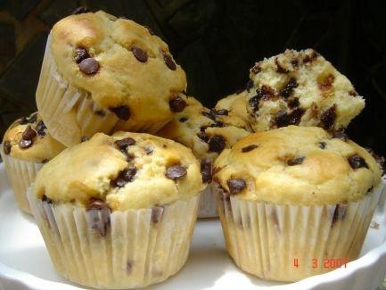 Muffin com gotas de chocolate