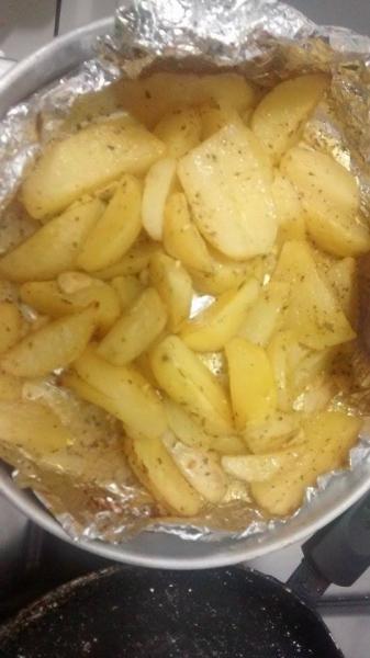 Batata assada com mostarda