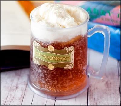 Cerveja amanteigada do Harry Potter com sorvete