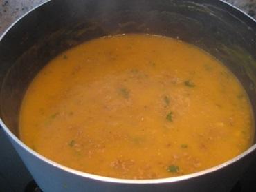 Sopa de mandioquinha cremosa
