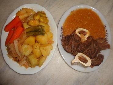 Cozido pernambucano de carne e pirão